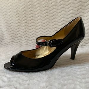 J.CREW Black Patent Leather High Heels Sz 9.5